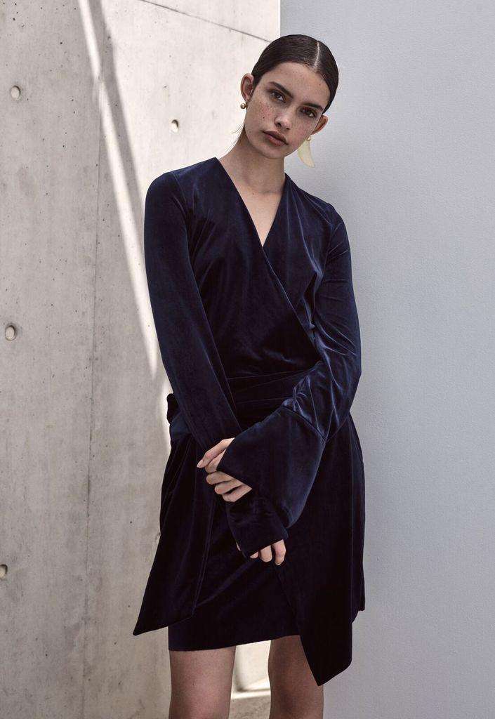 Viktoria & Woods VIKTORIA + WOODS | ESCAPE WRAP DRESS | MIDNIGHT