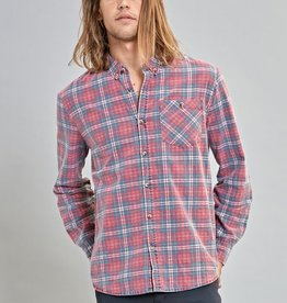 Rolla's ROLLAS | FITZROY SHIRT | WHITE/RED/BLUE