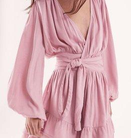 Steele STEELE   FELICE WRAP DRESS   ROSE PINK