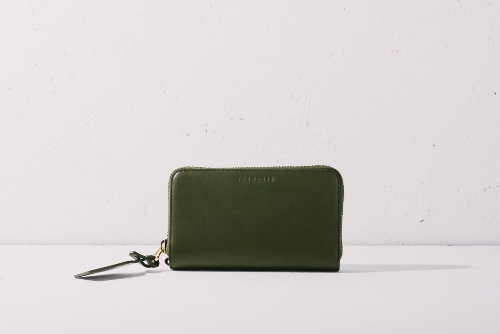 The Horse THE HORSE | L23 | BLOCK WALLET | OLIVE
