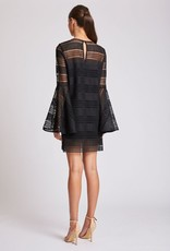 Shona Joy SHONA JOY | ARUBA | FLARED SLEEVE SHIFT DRESS | BLACK