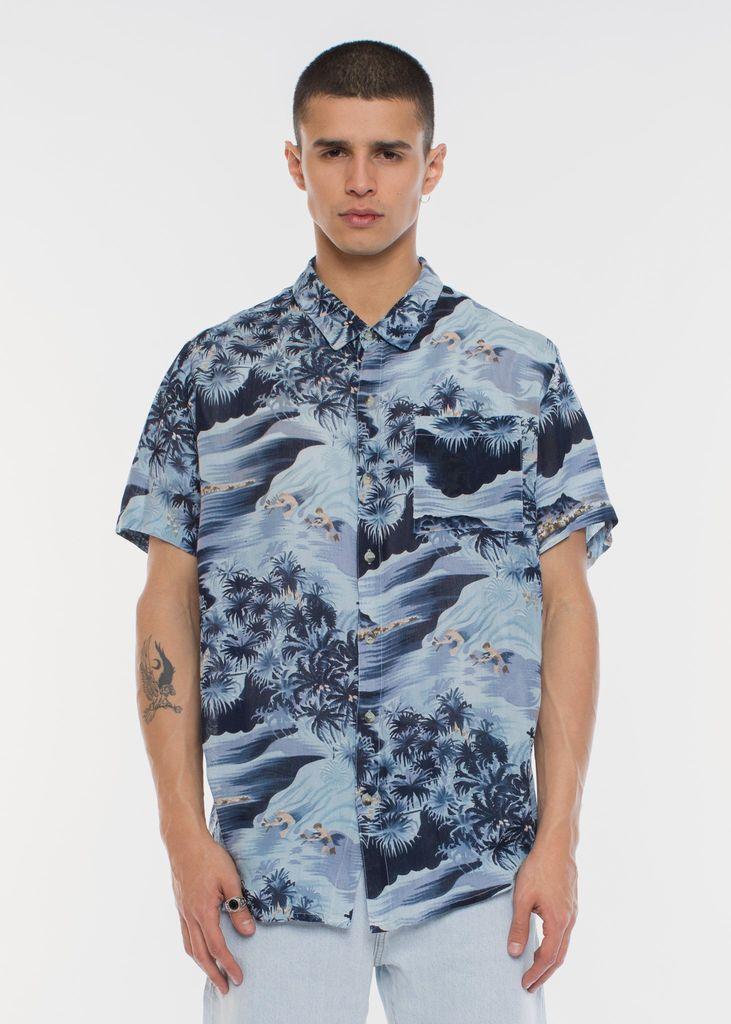 Rolla's ROLLAS   BON SHIRT   BLUE HAWAII