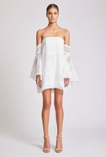 Shona Joy SHONA JOY | ARUBA | FLARED SLEEVE STRAPLESS MINI | IVORY