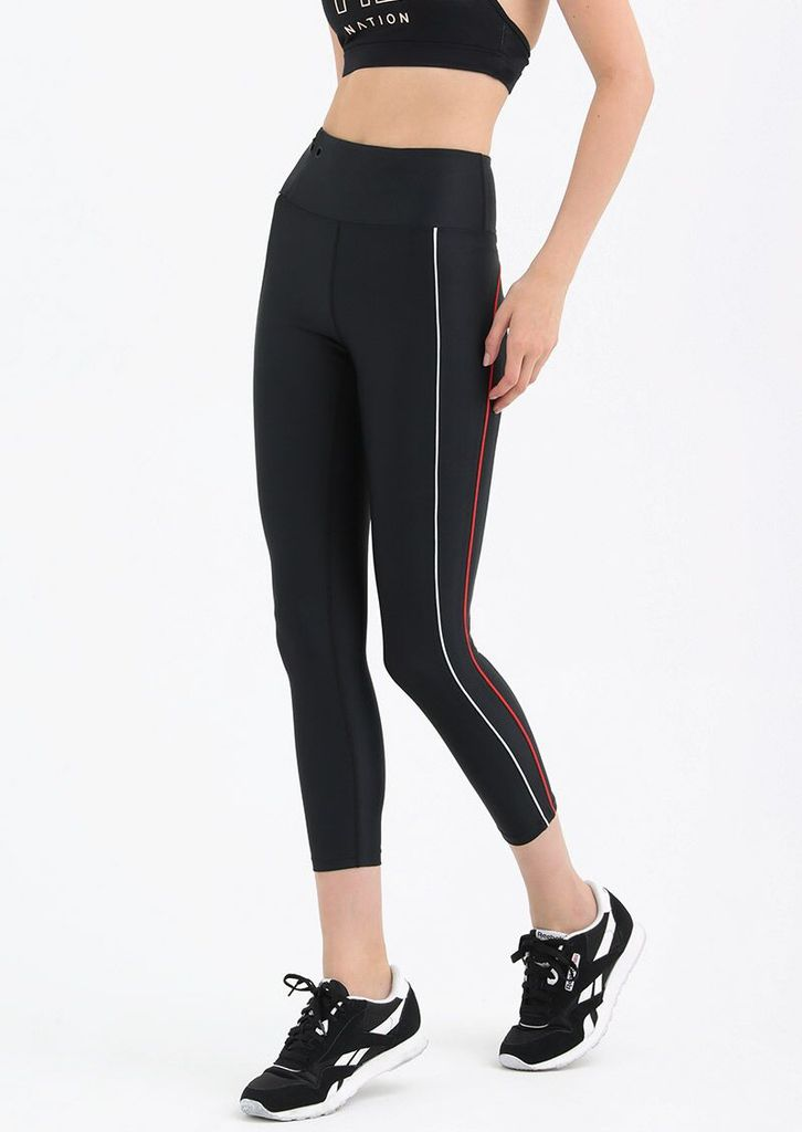 PE Nation PE NATION | SQUARE OFF PIPING LEGGING | BLACK