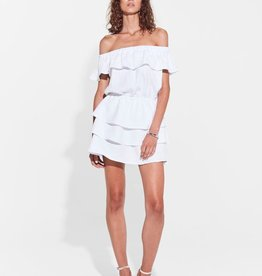 Sir the Label SIR | STEFI OFF SHOULDER MINI DRESS | WHITE