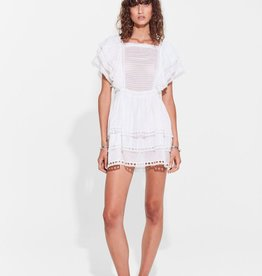 Sir the Label SIR | DYLAN RUFFLED MINI DRESS | WHITE