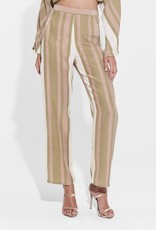 Sir the Label SIR | AGGIE HIGH WAISTED PANT | OLIVE/BLUSH STRIPE