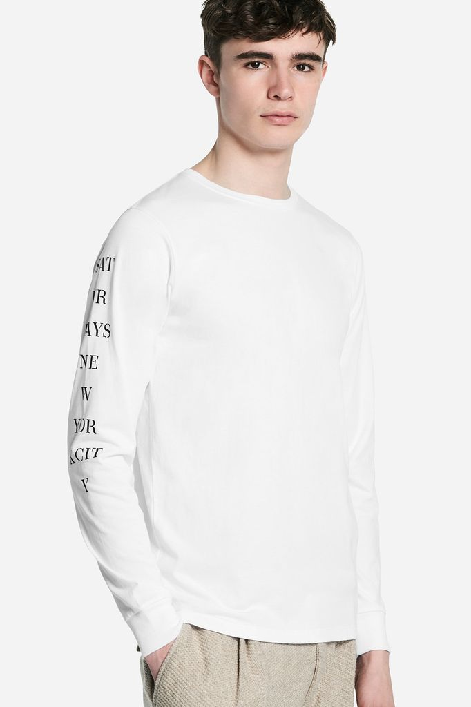 Saturdays Surf NYC SATURDAYS | STENCIL L/S TEE | WHITE