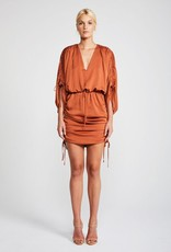 Shona Joy SHONA JOY | SOLAR | RUCHED KIMONO D/STRING MINI DRESS | COPPER