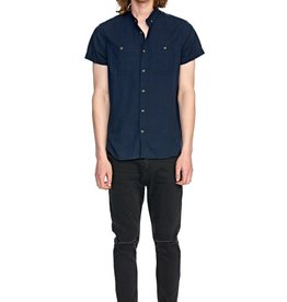 Rolla's ROLLAS | MEN AT WORK LINEN SHIRT | NAVY