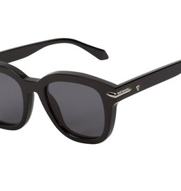 Valley VALLEY | BRAKE | GLOSS BLACK W SILVER METAL TRIM/BLACK LENS