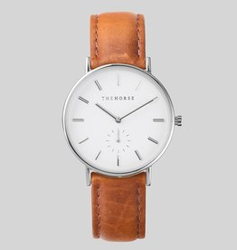 The Horse THE HORSE | WATCH | STEEL/WHITE DIAL/TAN BAND