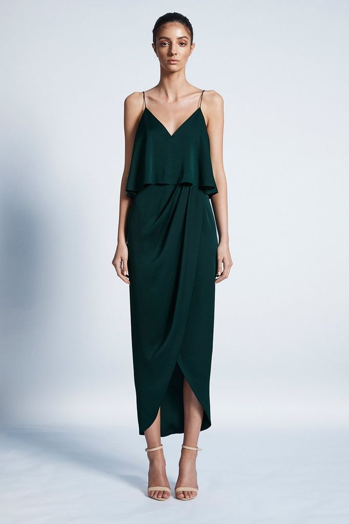 Shona Joy SHONA JOY | LUXE COCKTAIL FRILL | EMERALD