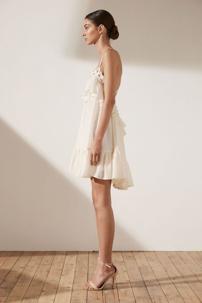 Shona Joy SHONA JOY | STELLA | CROSS BACK MINI DRESS | CREAM
