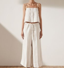 Shona Joy SHONA JOY | ALBA | BUTTON UP CAMISOLE | IVORY/STONE STRIPE