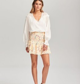 Steele STEELE | LE BLOOM MINI SKIRT | VANILLA LE BLOOM