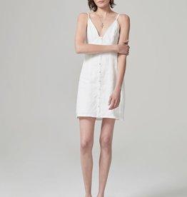 Hansen & Gretel HANSEN & GRETEL   JOURDAN LINEN DRESS   WHITE