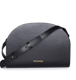 Royal Republiq ROYAL REPUBLIQ | GALAX CURVE EVENING BAG | BLACK