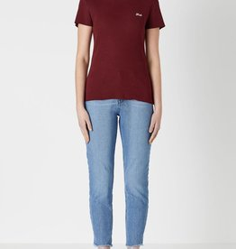 Viktoria & Woods VIKTORIA + WOODS | WOODS EMBROIDERED T | BORDEAUX