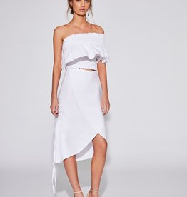 Sir the Label SIR | INES ONE SHOULDER TOP | WHITE