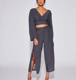 Sir the Label SIR | EMELIE SPLIT LEG PANT | INK MINI PRINT