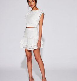 Sir the Label SIR | CIEL LAYERED MINI SKIRT | IVORY