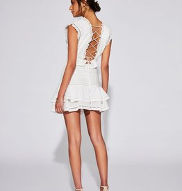 Sir the Label SIR | CIEL TOP W LACED BACK | IVORY