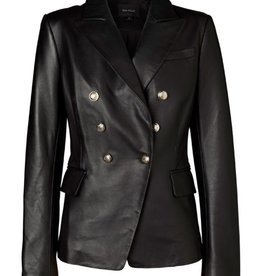 Ena Pelly ENA PELLY | LEATHER BLAZER | BLACK NAPPA/LIGHT GOLD