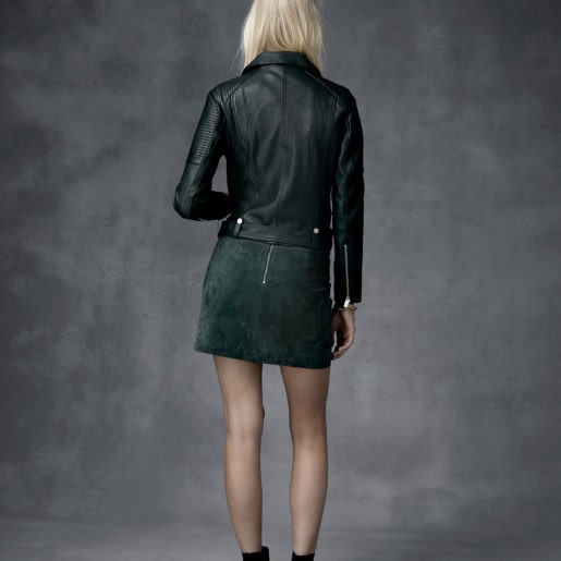 Ena Pelly ENA PELLY | CLASSIC BIKER JACKET | FOREST GREEN