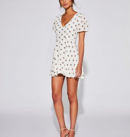 Sir the Label SIR | SOLENE PANELLED MINI DRESS | IVORY LARGE PRINT