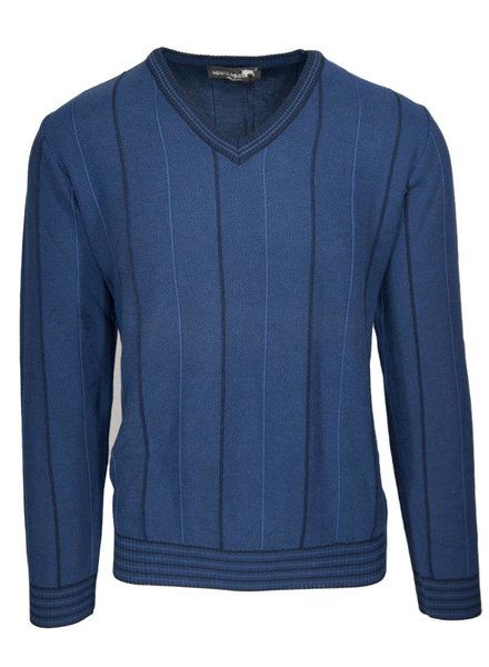 Maremma Maremma Blue V-Neck Sweater