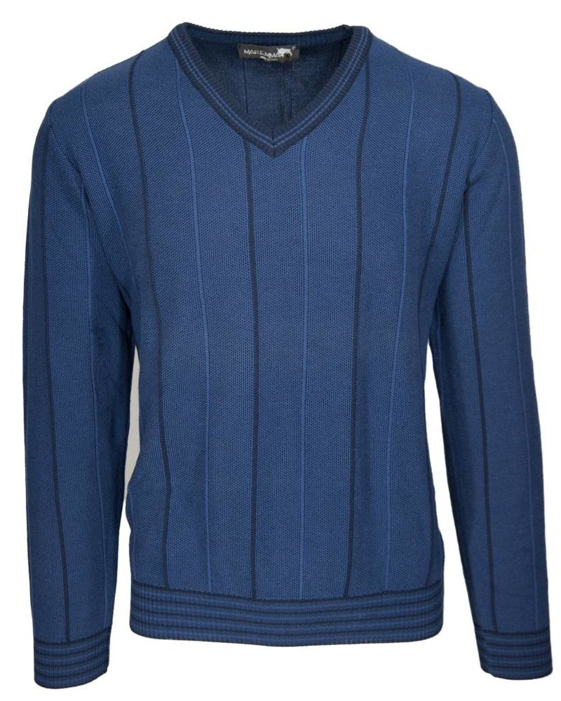 Maremma Maremma Blue V-Neck Sweater