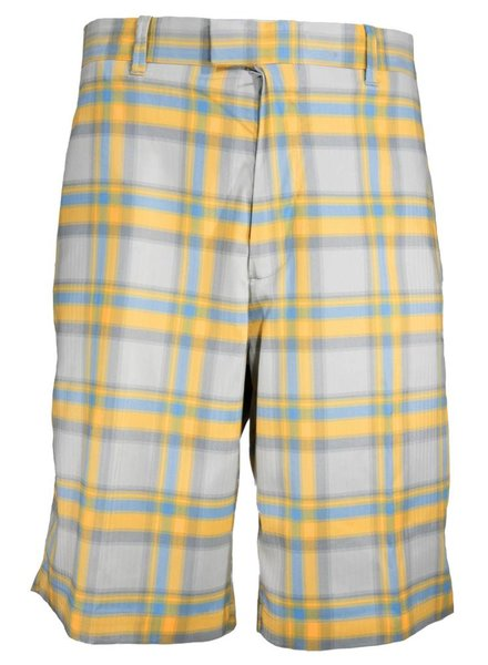 Callaway Callaway Yellow Plaid Performance Short