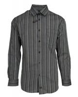 FX Fusion FX Fusion Black Stripe Dress Shirt