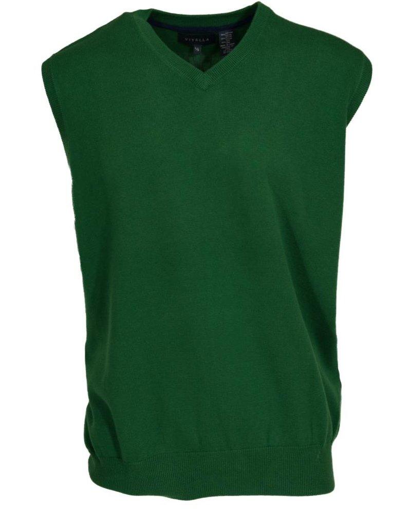 Viyella Kelly Green Sweater Vest Large