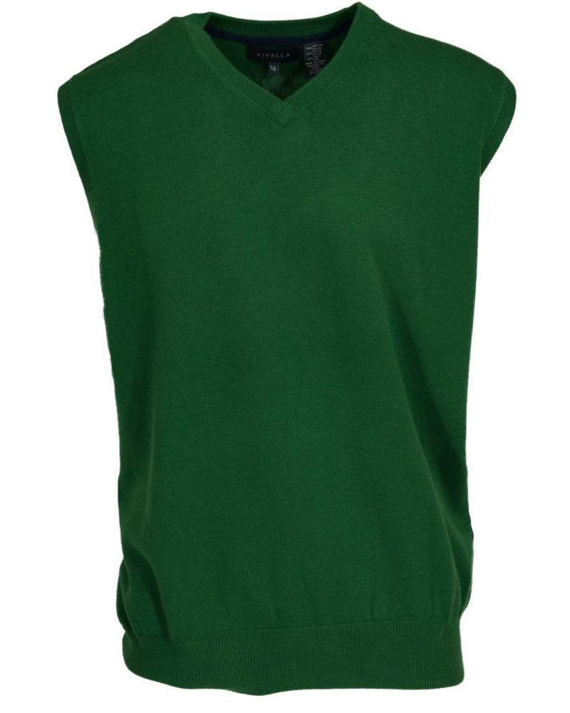 Viyella Viyella Kelly Green Sweater Vest Large - Michael's Menswear