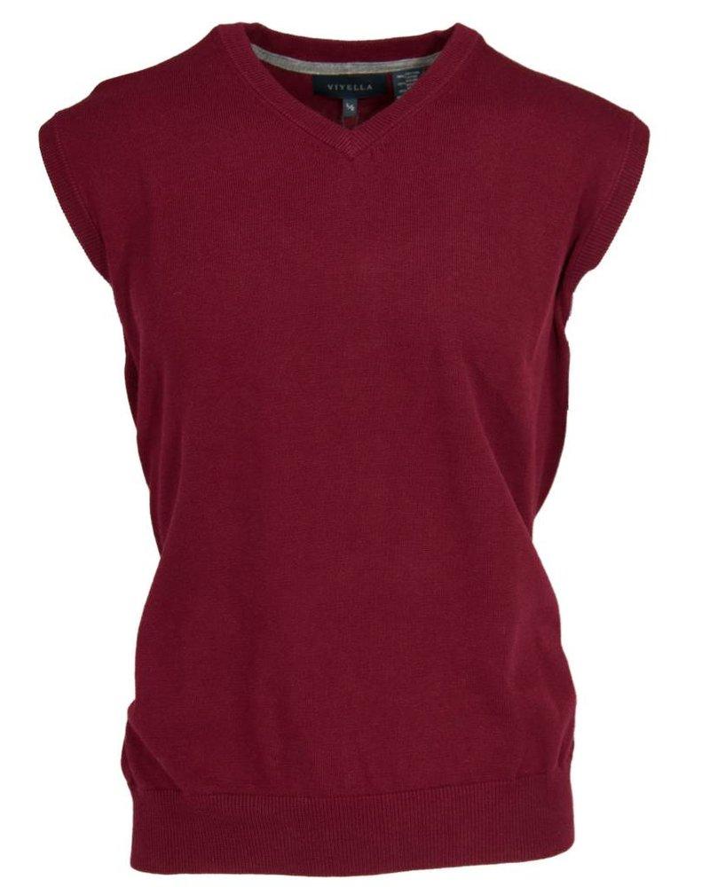 Viyella Burgundy Sweater Vest