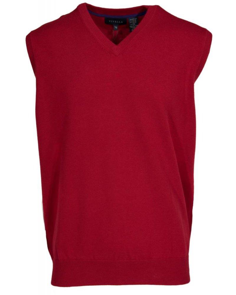 Viyella Viyella Guards Red Sweater Vest - Michael's Menswear