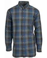 Viyella Viyella Blue Block Button Down Shirt L/S