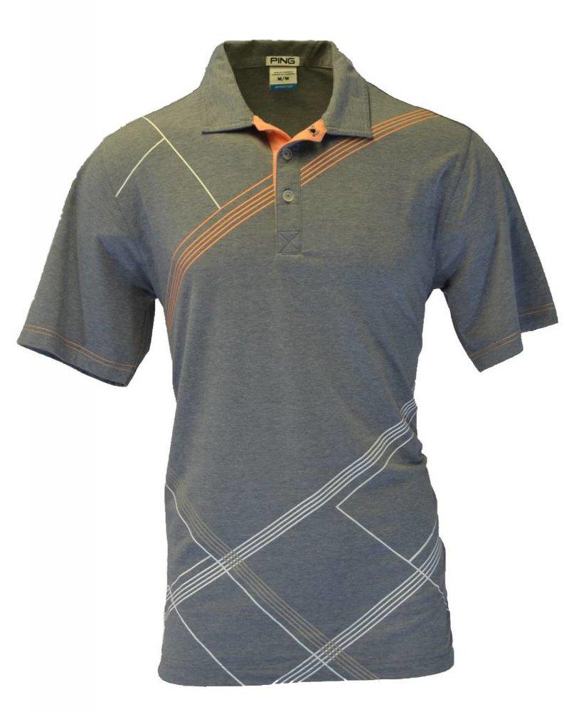 Ping Mens Medium Grey Golf Polo