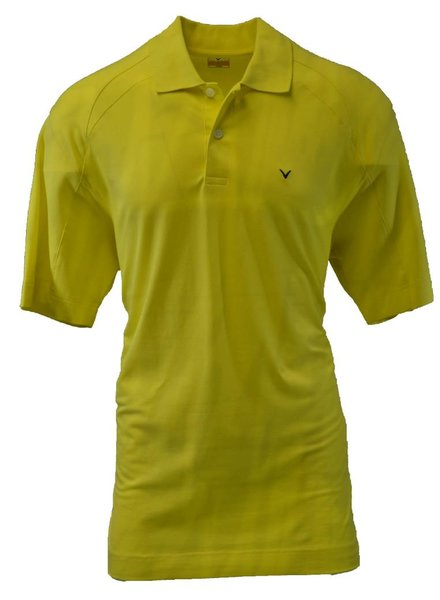 Callaway Callaway Large Yellow Cream Golf Polo