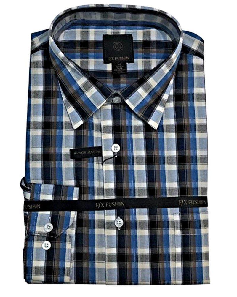 FX Fusion FX Fusion Multi Check Long Sleeve Sportshirt
