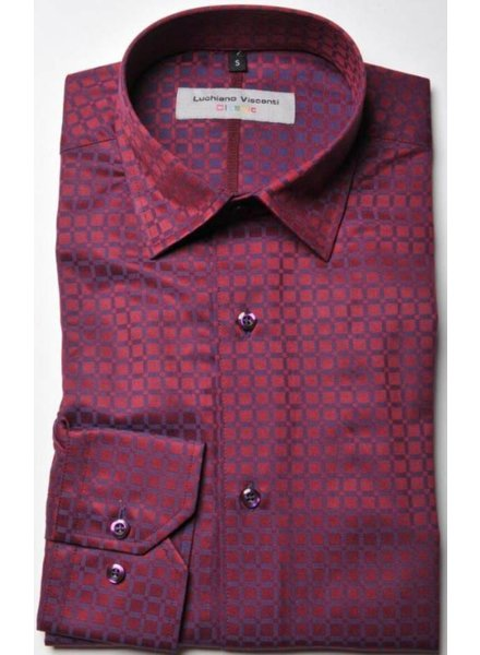 Luchiano VIsconti Luchiano Visconti Red & Blue Fancy LS Shirt