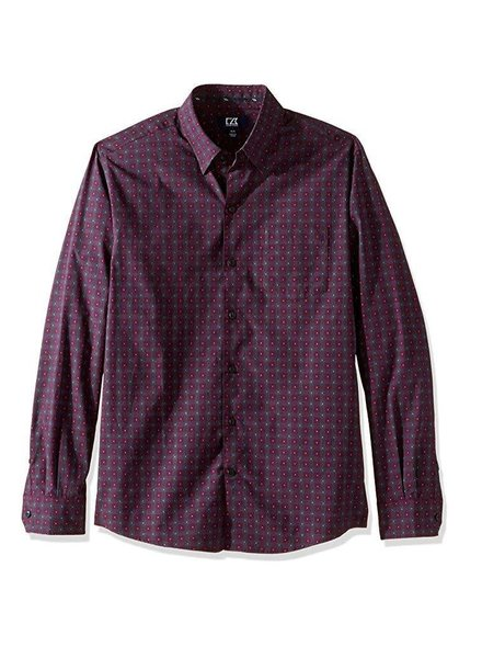Cutter & Buck Cutter & Buck Men's Long Sleeve Orchard Jacquard Check