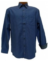 FX Fusion FX Fusion Men's Royal Blue Long Sleeve Shirt
