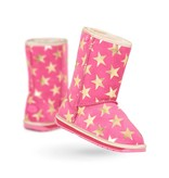 Emu Emu Starry Night Pink Merino Wool Lined Kid's Boot