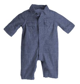Magnetic Me Magnetic Me - Chambray Polo Romper