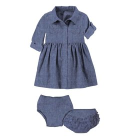 Magnetic Me Magnetic Me - Chambray Dress & Diaper Cover