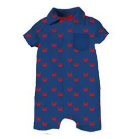 Magnetic Me Magnetic Me - Pique Polo Romper Crab