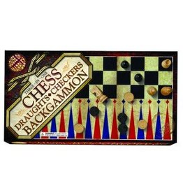 House of Marbles House of Marbles 3 in 1 Chess, Draughts, and Backgammon
